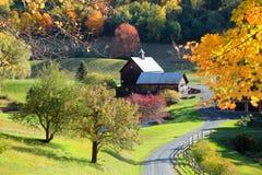 Oude schuur in de landelijke kant van Vermont royalty-vrije stock foto