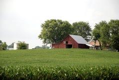 Oude Schuur op een Landbouwbedrijf in Kentucky stock fotografie