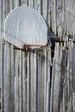 Oude schuur, oude hoepel Stock Afbeeldingen