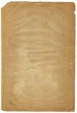 Oude sjofele pagina met vervallen rand (aftasten). Stock Fotografie