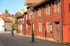 Oude Skandinavische gebouwen. Linkoping. Zweden royalty-vrije stock afbeelding