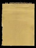 Oude sketchbookpagina Royalty-vrije Stock Fotografie