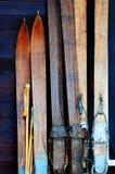 Oude Ski royalty-vrije stock fotografie