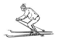 Oude ski Royalty-vrije Stock Foto