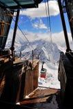 Oude skiliftpost Royalty-vrije Stock Afbeelding