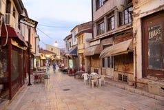 Oude Skopje stock afbeeldingen