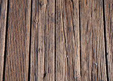 Oude slaan-omhooggaande houten gang Stock Foto