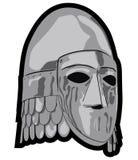 Oude slavic helm vector illustratie