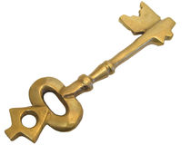 Oude sleutel Stock Foto