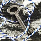Oude sleutel stock afbeeldingen