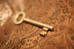 Oude sleutel royalty-vrije stock foto