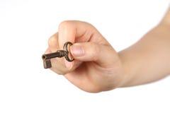 Oude sleutel Royalty-vrije Stock Afbeeldingen