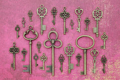 Oude sleutels Stock Foto