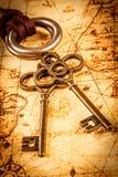 Oude sleutels Royalty-vrije Stock Afbeeldingen