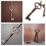 Oude sleutels vector illustratie