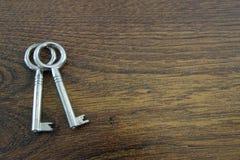 Oude sleutels Royalty-vrije Stock Afbeelding