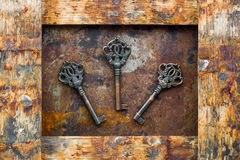 Oude sleutels Royalty-vrije Stock Foto