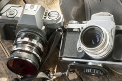 Oude slrcamera Royalty-vrije Stock Foto