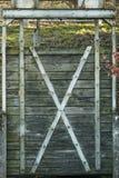 Oude sluisdeur Stock Foto