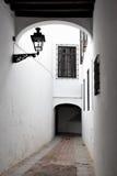 Straat in Sevilla stock afbeelding