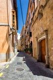 Oude smalle straat van Palma de Mallorca royalty-vrije stock foto's