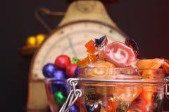 Oude snoepwinkel royalty-vrije stock afbeeldingen