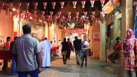 Oude souq in Muttrah, Oman stock videobeelden