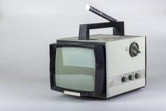 Oude Sovjet kleine zwart-witte TV Stock Foto