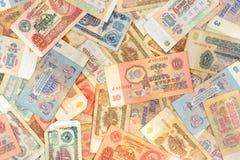 Oude sovjet Russische geldachtergrond royalty-vrije stock fotografie
