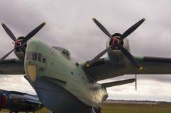 Oude Sovjet Vliegende Boot Royalty-vrije Stock Foto's