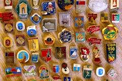 Oude Sovjet zeldzame ijzerkentekens royalty-vrije stock foto's