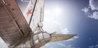 Oude Sovjetbommenwerper Royalty-vrije Stock Foto's