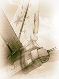 Oude Sovjetbommenwerper Stock Foto's