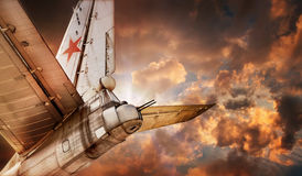 Oude Sovjetbommenwerper Royalty-vrije Stock Afbeeldingen