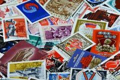 Oude Sovjetpostzegels royalty-vrije stock foto