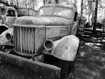 oude Sovjetvrachtwagen in het museum in pereyaslav-Khmelnitsky, de Oekraïne Stock Fotografie