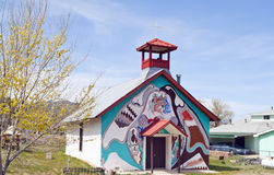 Oude Spaanse Kerk, Montezuma, New Mexico stock foto's