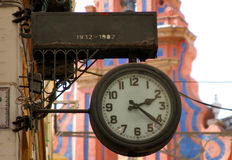 Oude Spaanse klok Royalty-vrije Stock Afbeelding