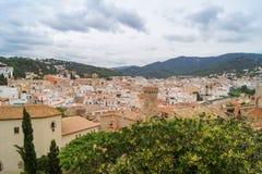Oude Spaanse stad Stock Afbeeldingen