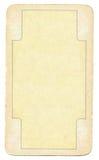 Oude speelkaart lege document achtergrond met lijn Royalty-vrije Stock Afbeelding