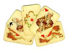Oude speelkaarten Stock Afbeelding
