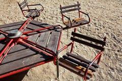 Oude speelplaats Royalty-vrije Stock Foto's