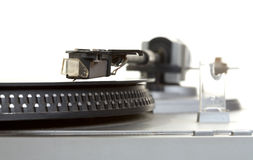 Oude speler en vinylfonograafverslag Royalty-vrije Stock Foto's