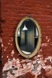 Oude spiegel stock fotografie