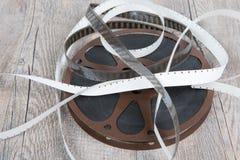 Oude spoel 16mm van de filmfilm Stock Foto's