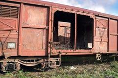 Oude spoorwagon Royalty-vrije Stock Afbeeldingen