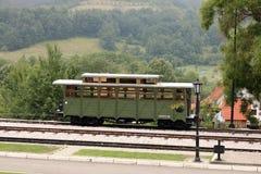 Oude spoorwagon Stock Afbeeldingen