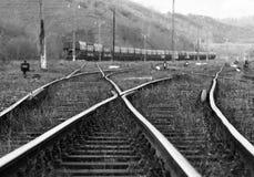 Oude spoorweg Royalty-vrije Stock Afbeeldingen