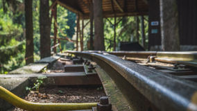 Oude spoorweg aan de mijnen Royalty-vrije Stock Fotografie