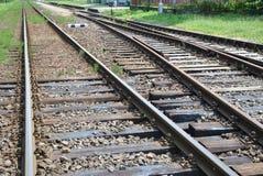 Oude spoorweg in het Noorden van Slowakije Royalty-vrije Stock Afbeeldingen